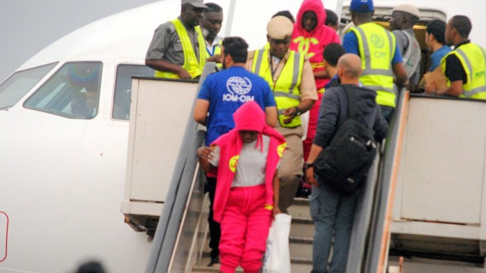 libya nigerians return