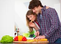 thinking facts marriage couple love cooking kitchen