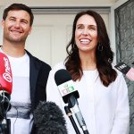 Jacinda Ardern, New Zealand prime minister, with partner Clarke Gayford.