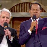 Pastor Chris Oyakhilome with Pastor Benny Hinn on LoveWorld TV | Screengrab from Loveworld TV
