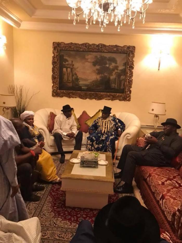 Obasanjo Visits Bayelsa, Meets Jonathan