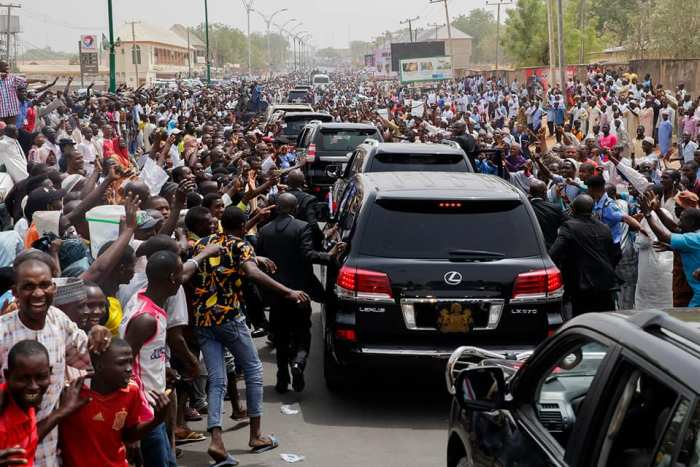 Buhari In Yola, Insists He Has Fulfilled Campaign Promises