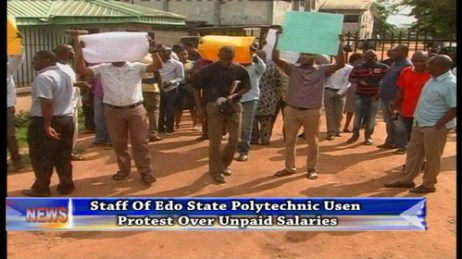 Edo State Polytechnic Workers Protest To State Government Over Unpaid Salaries
