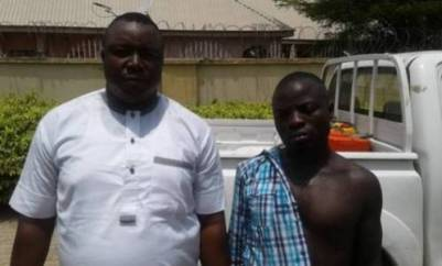 DSS Parades Alleged Gunrunner Jonah Abbey After A 10-Year Chase (PHOTO)