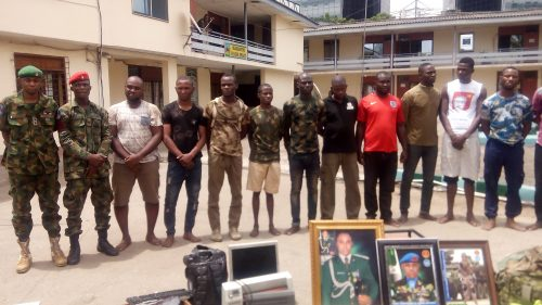 Army Conducts Illegal Parade Of 13 Soldier Impersonation Suspects (PHOTO)