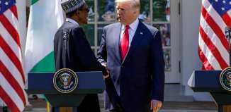 PRESIDENT BUHARI AND TRUMP WORLD PRESS BRIEFING AT THE WHITE HOUSE. APRIL 30 2018