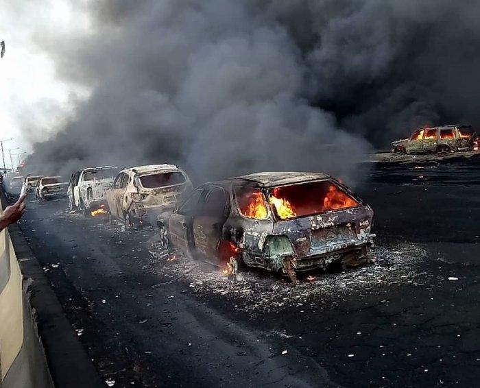 Lagos Police Track Owner Of Otedola Bridge Fire Tanker To Kano, Arrest Him