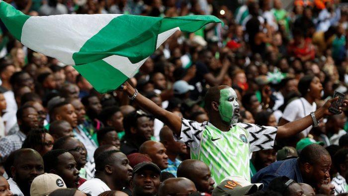 Russia Nigerian Football Fans