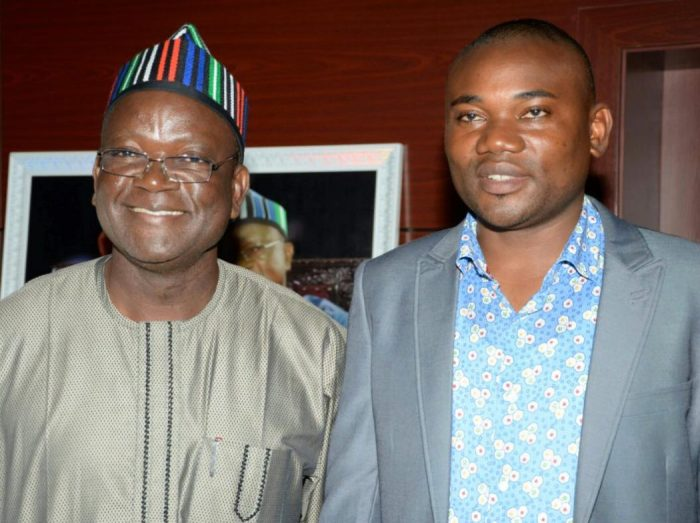 Terkimbi Ikyange, former speaker of Benue House of Assembly pictured with Benue Governor Samuel Ortom