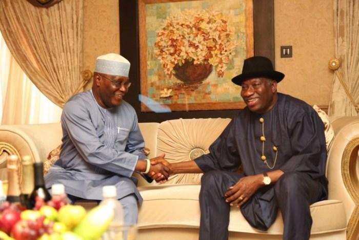 Former President Goodluck Jonathan received former Vice President Atiku Abubakar in his home in Othueke, Bayelsa State in July, 2018