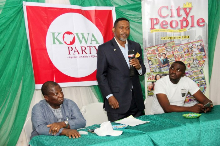 Sina Fagbenro-Byron, a presidential aspirant on the platform of KOWA party, h