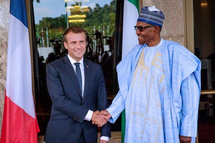 Emmanuel Macron, Muhammadu Buhari, France, Nigeria