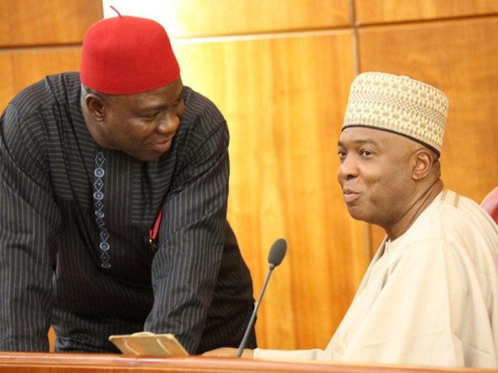 Operatives of Nigeria's secret police, the State Security Services, SSS, also known as DSS, have desieged the residence of Ike Ekweremadu, the deputy president of the Nigerian Senate. The operatives are seen in a video obtained by The Trent preventing movement around the official residence of the deputy senate president on Tuesday [July 24, 2018] morning.