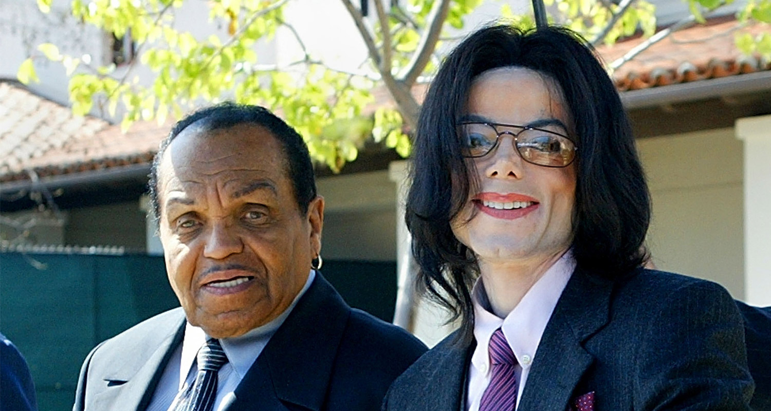 Michael Jackson (right) pictured with his father Joe Jackson