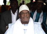 (FILES) In this file photo taken on August 10, 2018 Mali's incumbent president Ibrahim Boubacar Keita