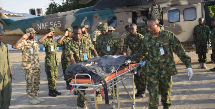 The remains of the slain Lt Col Mohammed Abu Ali and four soldiers killed last Friday by Boko Haram insurgents in Borno state will be laid to rest at the National Cemetery November 7, 2016, Monday, in Abuja.