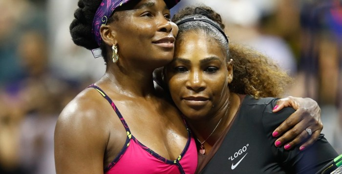 Even though Serena won 6-1, 6-2 there was still chance for a sisterly hug at the end of US Open in August 2018   Getty