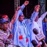 President Buhari, Festus Keyamo, Atiku Abubakar