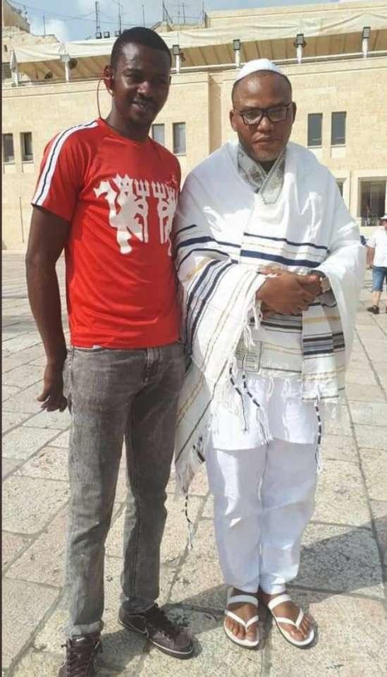 Nnamdi Kanu resurfaces in Israel praying at the Western Wall of Jerusalem in October, 2018 | Twitter/@nkebetojackson