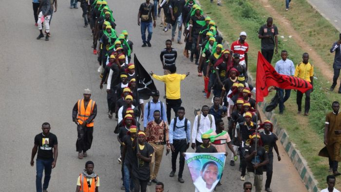 Shiite protestors marching to the Nigeria's capital city Abuja. Nigerian army officers have killed at least 10 Shiite protesters | CNN