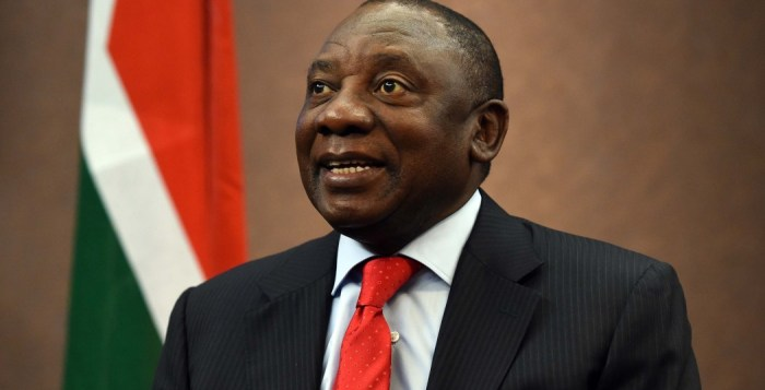 Cyril Ramaphosa, the president of South Africa speaking about the Sona at the New Age Business Briefing breakfast at Grandwest in Cape Town. 18/06/2014   Kopano Tlape GCIS
