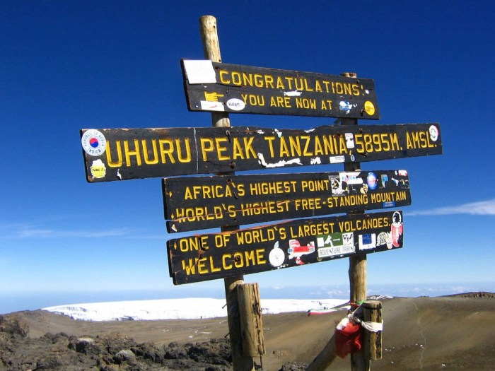The peak of Mount Kilimanjaro