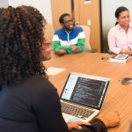 business management women woman laptop office tech