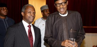 President Muhammadu Buhari (right) and Vice President Yemi Osinbajo in a State House photo