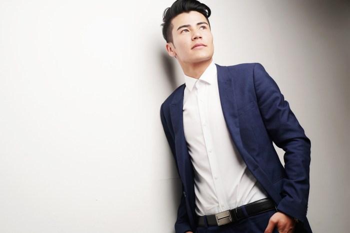 clean shaven man model blazer model-