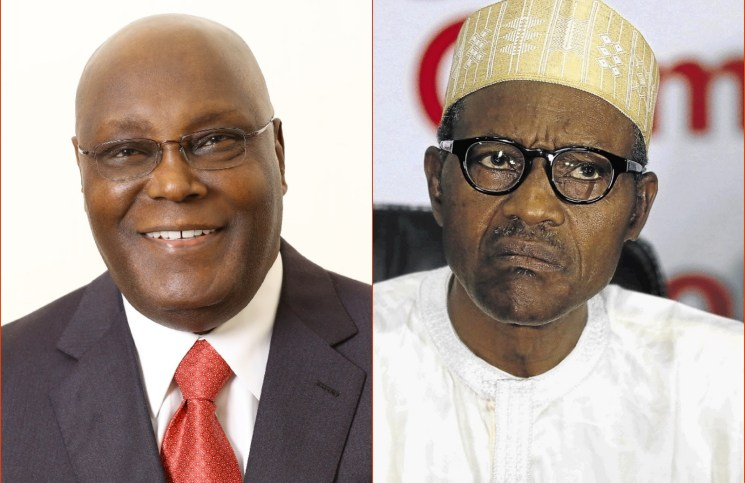 Nigeria Former Vice President Atiku Abubakar, the main challenger in the 2019 presidential elections (left) and Muhammadu Buhari, the incumbent president (right)