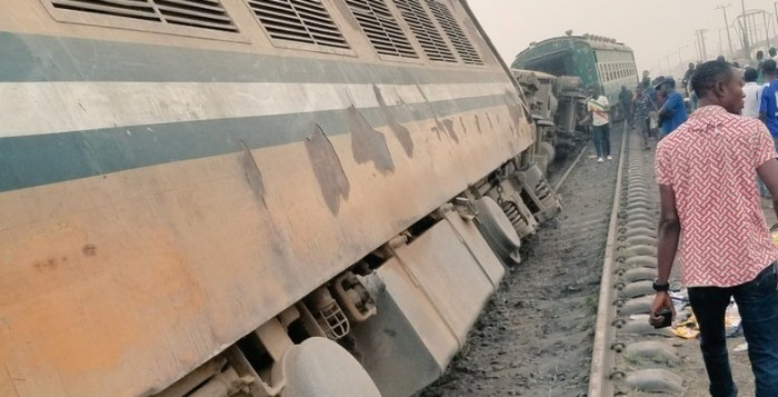Train accident in Agege