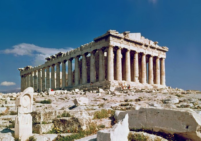 The Parthenon in Anthens, Greece