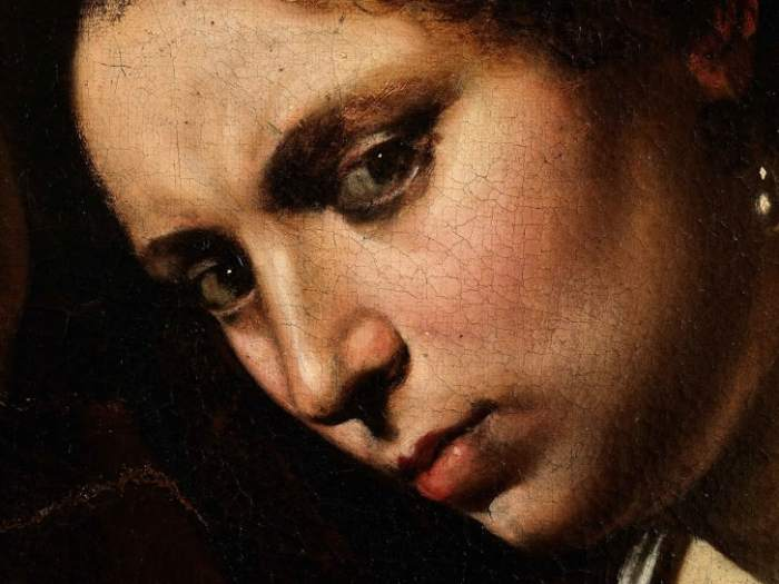 The lost Caravaggio was rediscovered in 2014, in an attic in Toulouse, France. Credit: Cabinet Turquin
