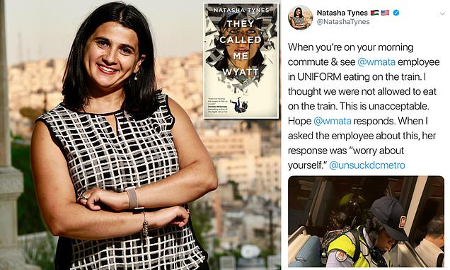 Author Natasha Tynes looks set to lose her book deal after a tweet criticising a Metro employee for eating on the train sparked an online backlash.