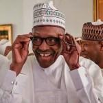 Buhari laughing smiling
