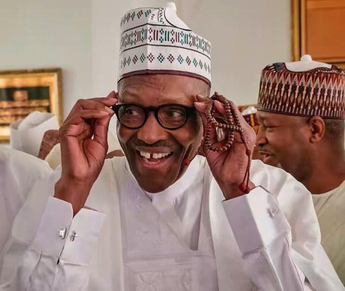 Buhari laughing smiling