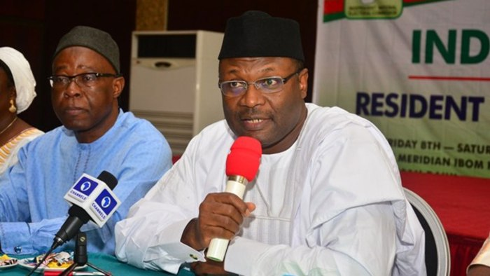 INEC Chairman, Professor Mahmood Yakubu, fire