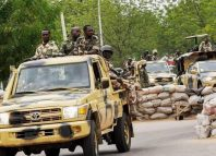 Nigerian soldiers in a truck