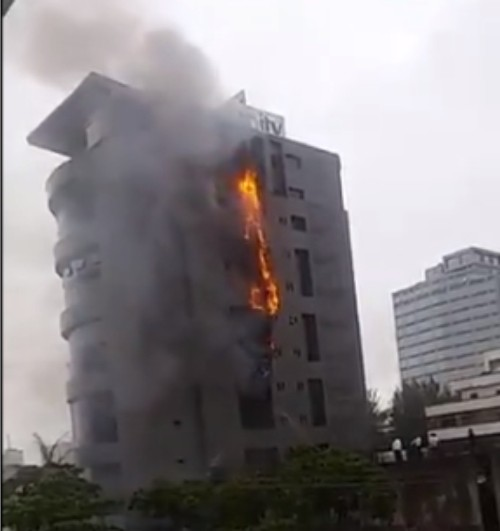 fire at Unity Bank Plc in Victoria Island