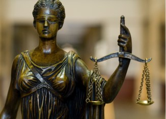 Lady justice gavel legal