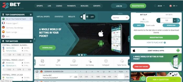 22Bet.ng 22Bet online gambling