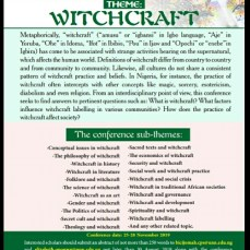 witchcraft conference UNN