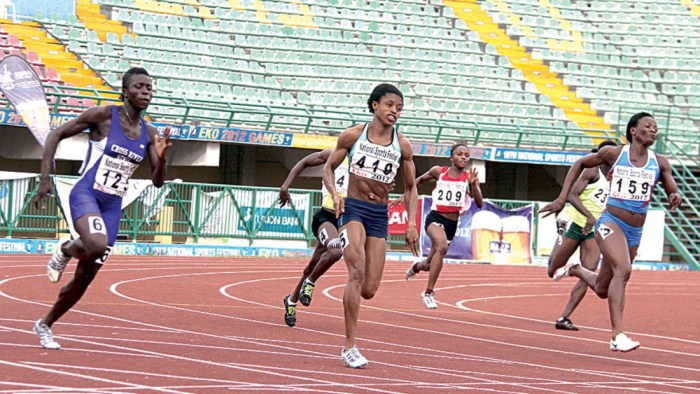 FILE Photo of Nigerian athletes at a National Sports Festival