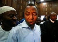 Publisher of Sahara Reporters Omoyele Sowore arrives at the Federal High Court in Abuja, Nigeria Sept. 30, 2019.