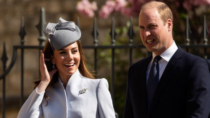 Kate Middleton, the Duchess of Cambridge and her husband, Prince William
