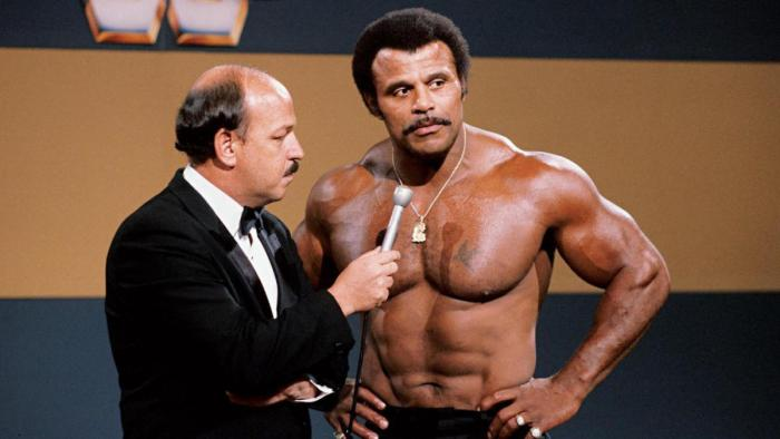 Rocky Johnson pictured during his professional career with WWE