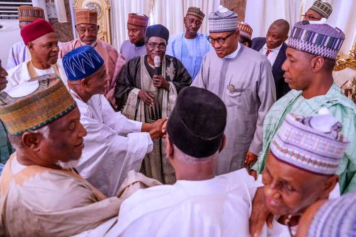 President Buhari on Feb 12, 2020 paid a sympathy visit to Borno State over the Auno Boko Haram attack in which 30 travellers were killed on Sunday. | State House Photo
