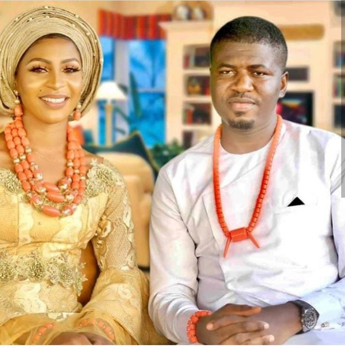 Late Immaculate Okochu and her fiance Loveday Etomi.
