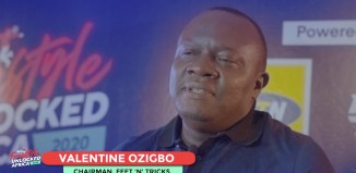 Valentine Ozigbo, the Chairman of Feet N Tricks during his welcome speeach at the finals of the African Freestyle Football Championships Sunday Aug 2, 2020 | Screengrab from YouTube