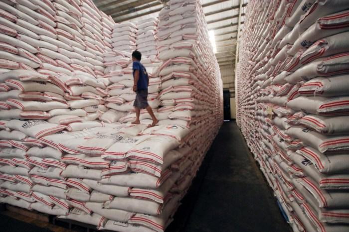 warehouse rice palliatives